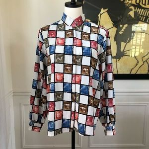 Vintage Yves St Clair Blouse Checkerboard 10